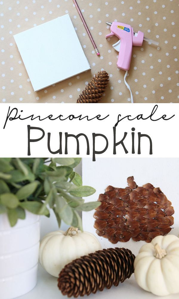 Pinecone Scale Pumpkins This is such a fun fall craft! This Pinecone Scales Pumpkin is the perfect weekend craft. Get the details here!