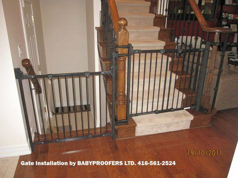 Baby Gate Option For Mounting With No Holes In The Newell