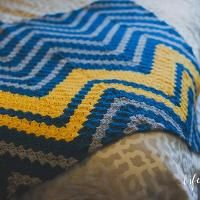 Crocheting: Crochet Verticle Chevron Pattern