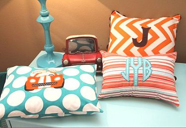 Orange and Blue Baby Muscle Car Nursery Theme