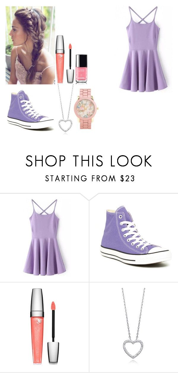 """""""Today's outfit"""" by depystyles13 ❤ liked on Polyvore featuring Converse, Lancôme and Aéropostale"""