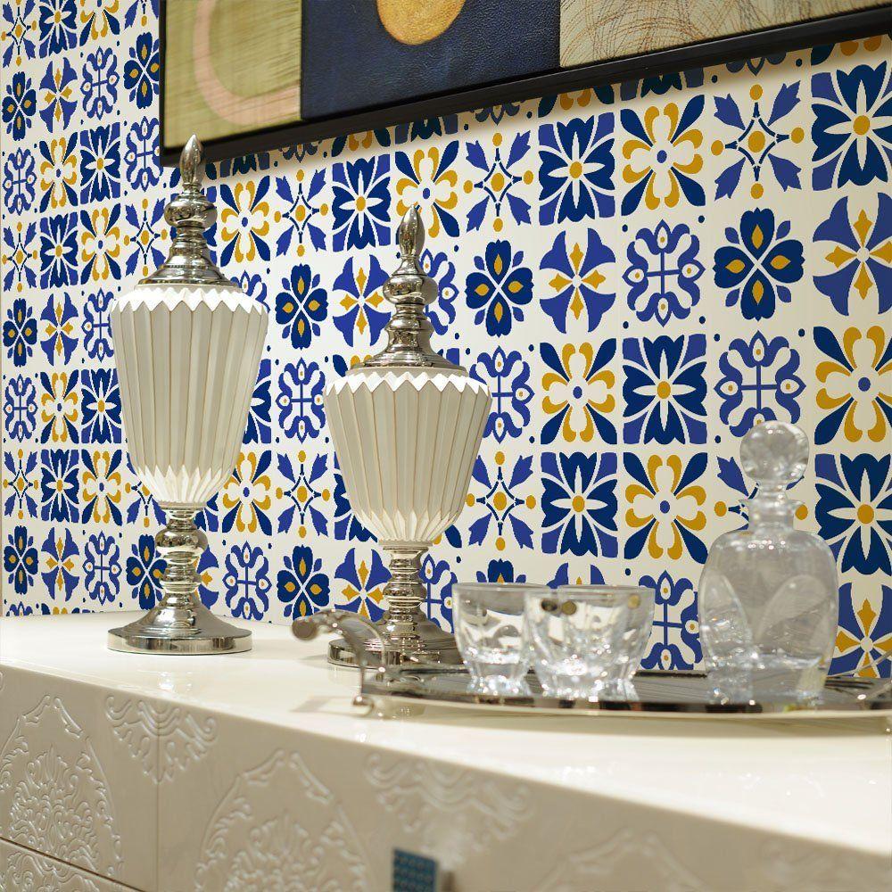 VANCORE 500cm x 20cm Wall Tiles Sticker for Bathroom Kitchen Self ...