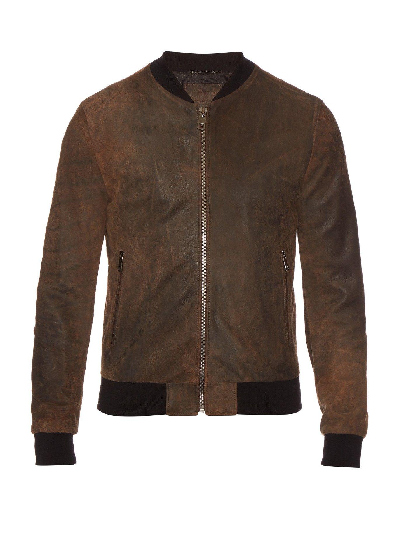 Suede Bomber Jacket Dolce Gabbana Matchesfashion Com Uk Suede Bomber Jacket Suede Bomber Jacket Men Brown Leather Bomber Jacket [ jpg ]