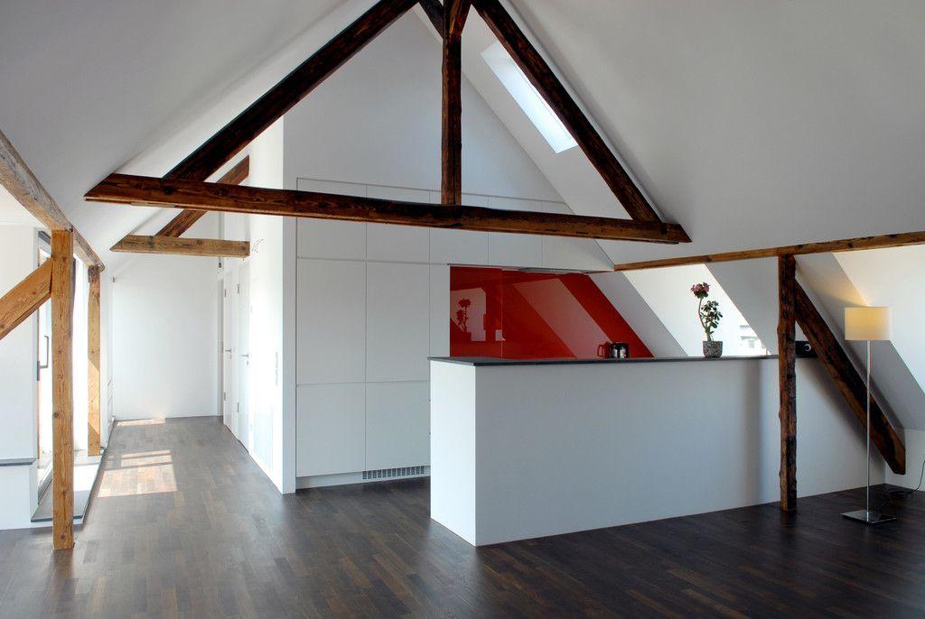Fresh Moderne K che Bilder Dachgeschosswohnung K ln