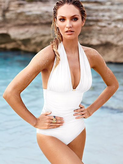 ad37165510fca Great Mommy suit. Halter One-piece Secret by Victoria's Secret Swim ...