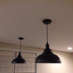 Lightess Industrial Pendant Light Vintage Black Metal Hanging Light Edison Ceiling Mou Industrial Hanging Lights Industrial Pendant Lights Metal Hanging Lights