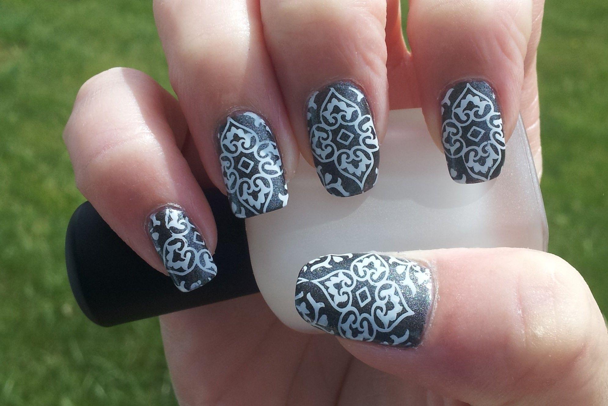 Nail Art - Stamping, Polish: Zoya - Loredana, Stamp: Cheeky Jumbo ...