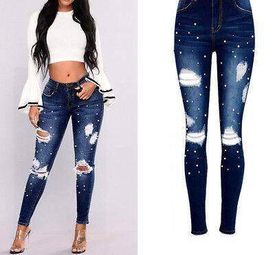 Photo of US $ 36,99 – Nuovi pantaloni jeans alla moda per l'abbigliamento donna colombiana strappata 2018