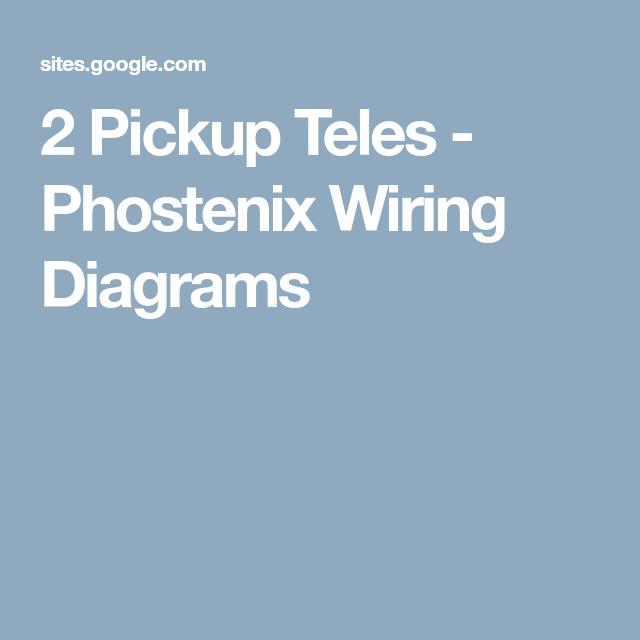 Phostenix Wiring Diagrams - Electrical Work Wiring Diagram •