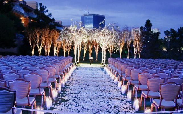 Evening Outdoors Wedding Outdoor Evening Wedding Decorations