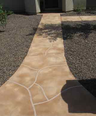 Genial Acrylic Overaly Fake Flagstone Look Arizona Aquatic Landscaping