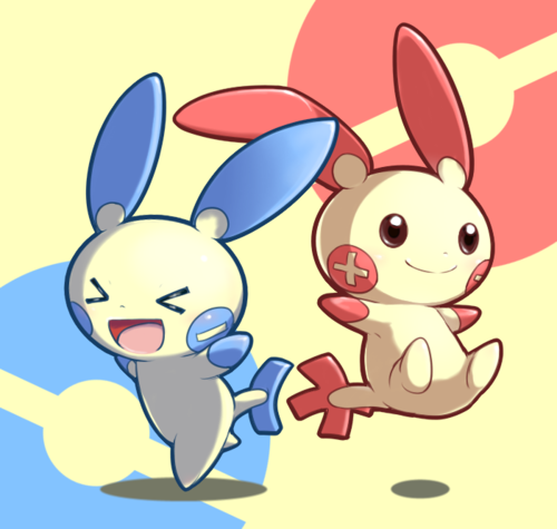 pokemon plusle and minun - Google Search   Pokémon games   Pokémon, Cute pokemon, Pokemon fan