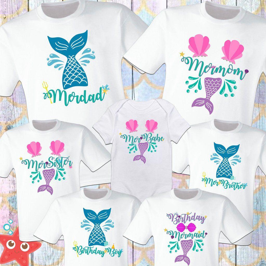 Mermaid Birthday Shirt Mermaid Birthday Family Shirts