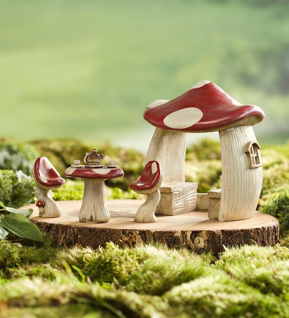 Gnome Garden: Miniature Fairy Garden Mushroom Set