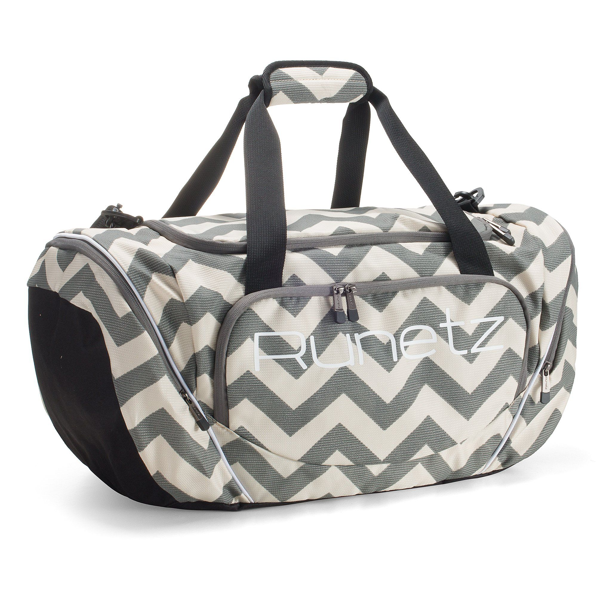 Amazon.com: Runetz - Chevron GRAY Gym Bag Athletic Sport Shoulder Bag for Men & Women Duffel 20-inch Large - Chevron Grey:… | Shoulder bag men, Bags, Womens gym bag