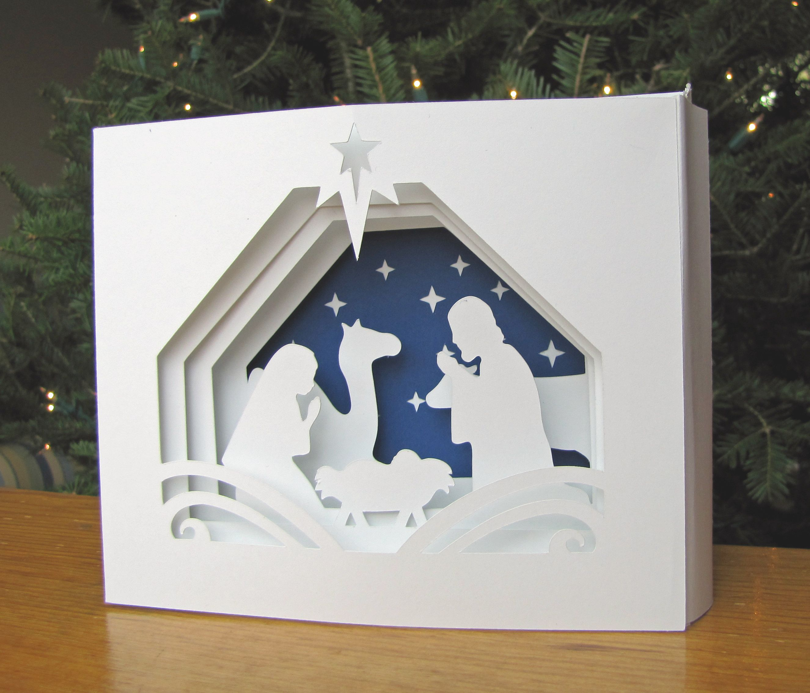 3D cards make a pretty impressive gift! Christmas cards