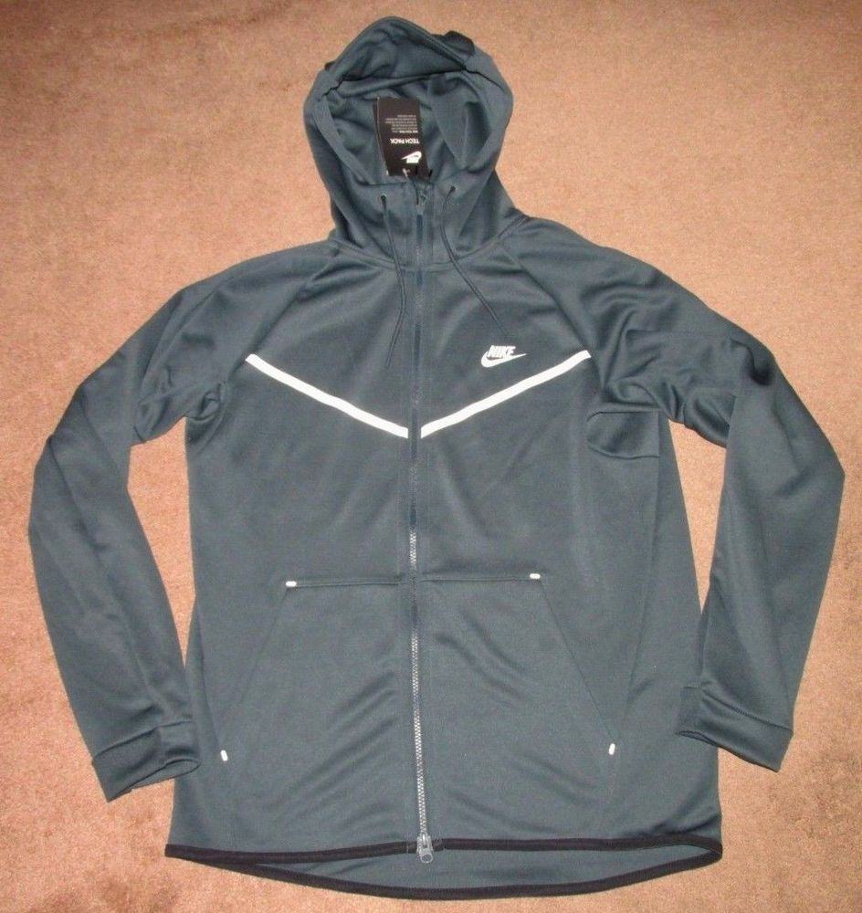 286b9c52ac6a Nike Sportswear Tech Icon Windrunner Hoodie Mens L Jungle Green  Nike   TrackJacket