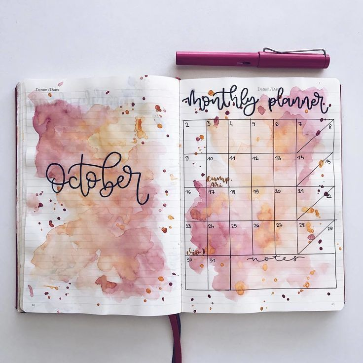 10 purple bullet journal spreads | My Inner Creative
