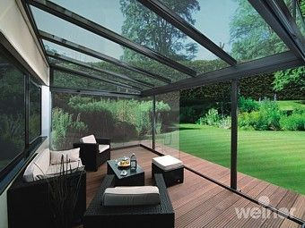 glass patio roof Google Search Outdoor spaces Pinterest