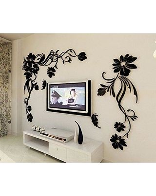 Mpoufe INC 3d Flower And Vine Wall Murals For Living Room Bedroom Sofa  Backdrop Tv Wall Background, Originality Stickers Gift, DIY Wall Decal Wall  Decor ...