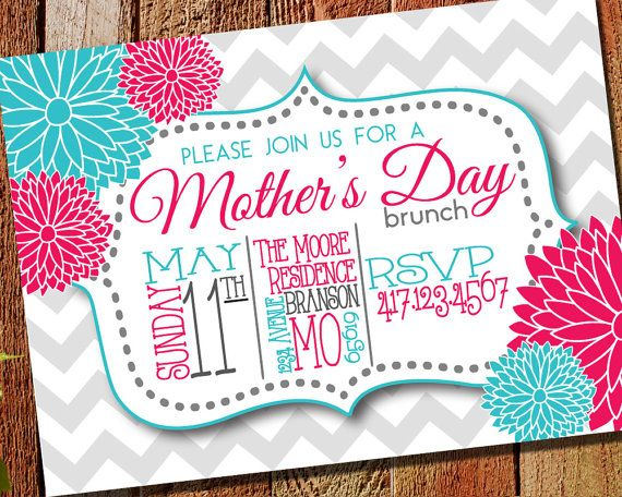 mother s day brunch invitation printable evite by nspiredesign