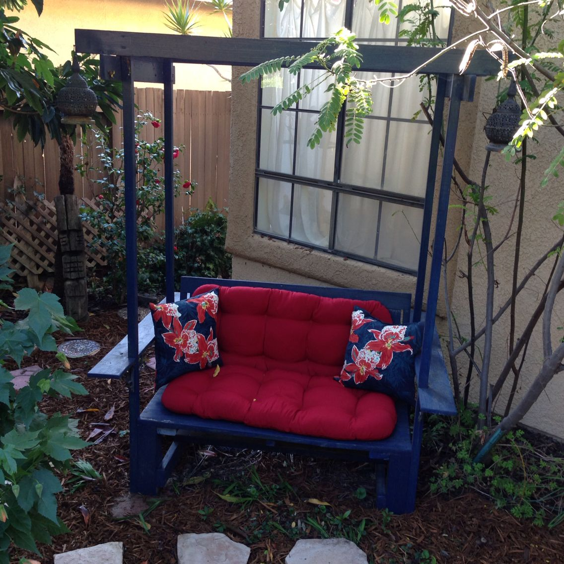 backyard bench i built tiki backyard pinterest backyard and