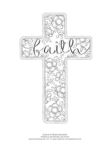 Faith Cross Free Printable Coloring Pages Cross Coloring Page Bible Art Journaling