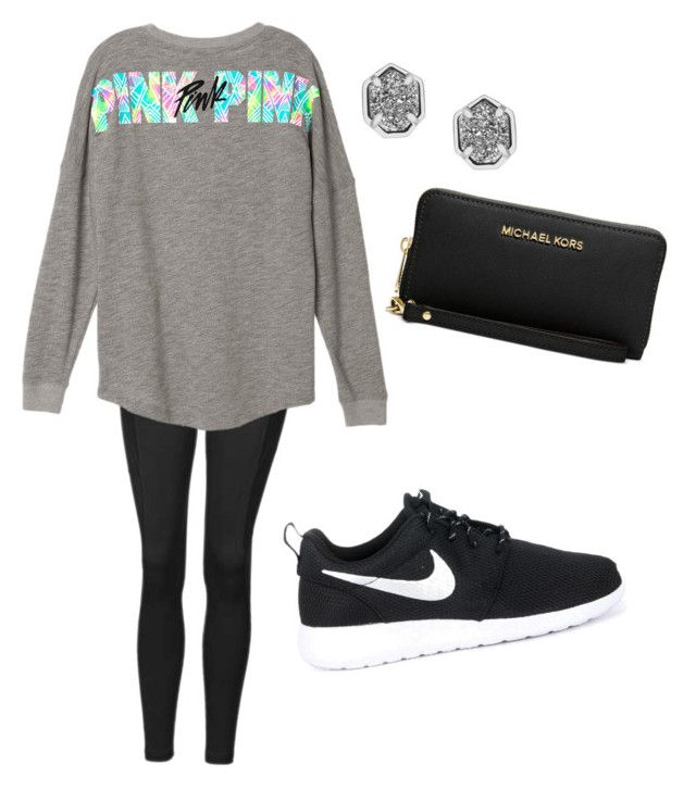 """Untitled #2"" by syd-squid-1 on Polyvore featuring Topshop, NIKE, Michael Kors and Kendra Scott"