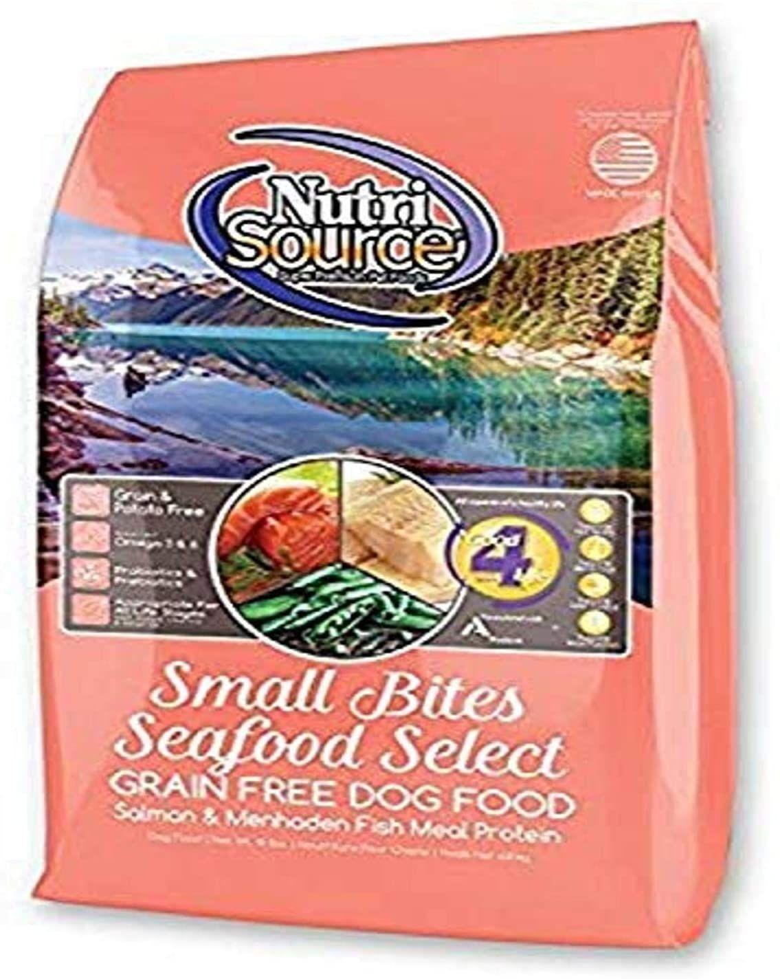 Nutri source small breed seafood select gf dog foodlb pet