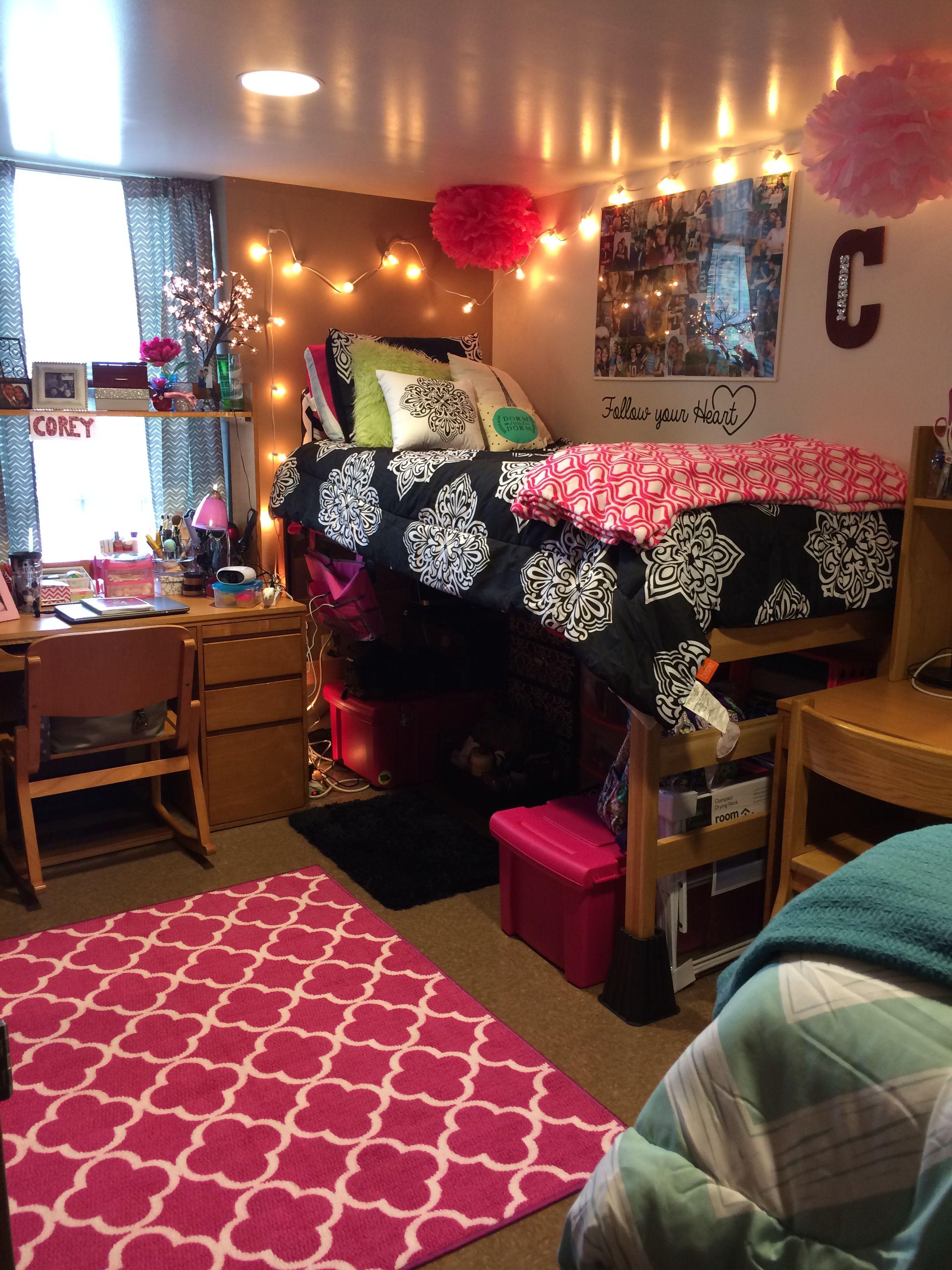 My Dorm Room Too Cute In 2020 Dorm Room Designs