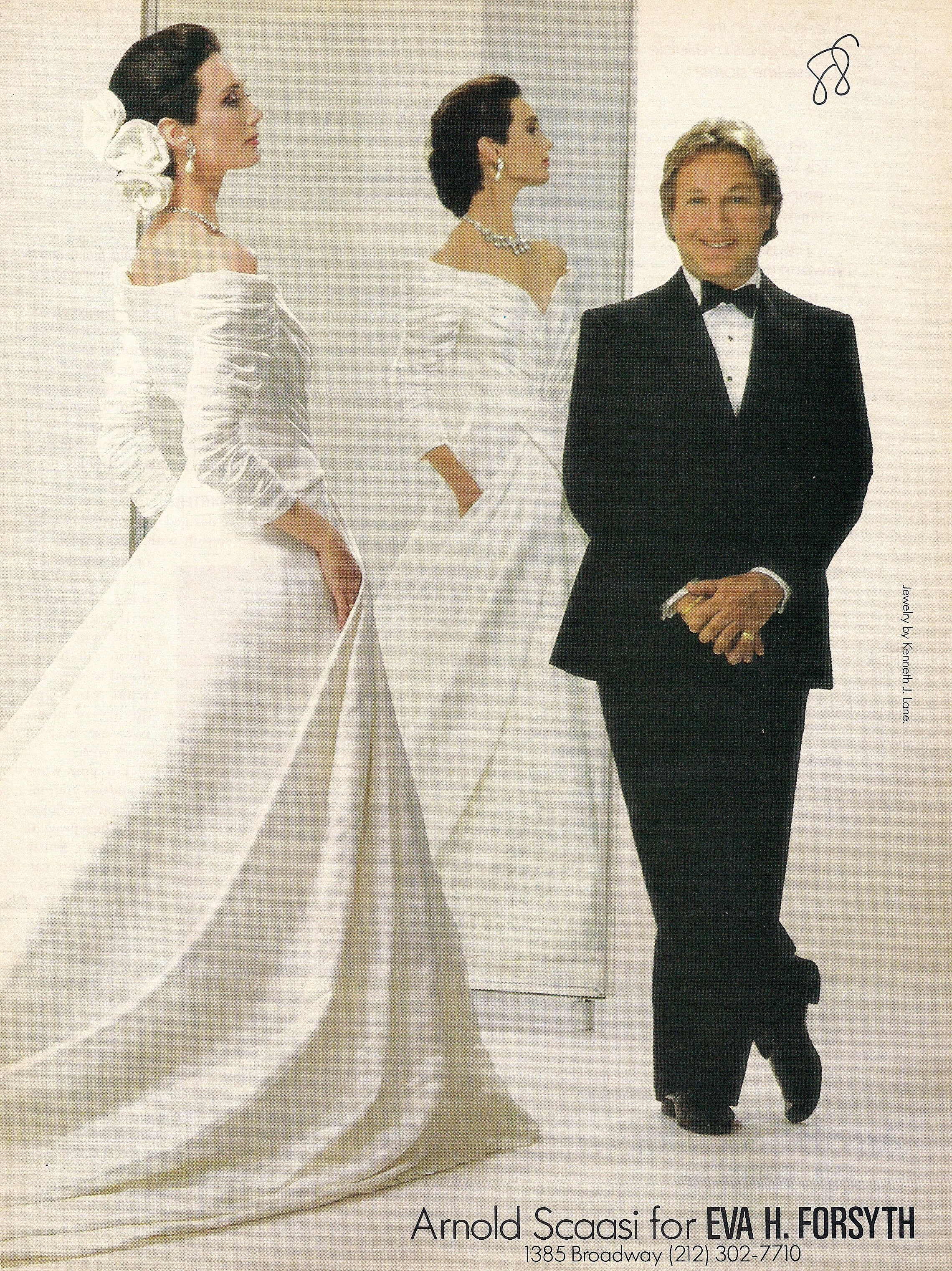 Atypical Restrained Bridal Gown From 1988 Designed By Arnold