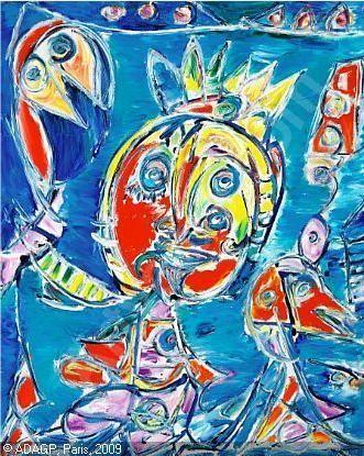 Carl Henning Pedersen 1953 Kunstenaar Abstract Schilderij