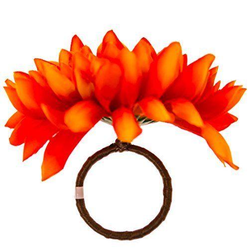 Orange Mum Napkin Ring