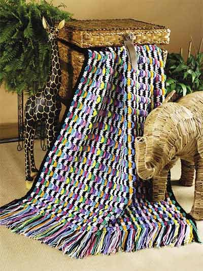 Crochet Afghans - Assorted Crochet Afghan Patterns - Zebra Flair