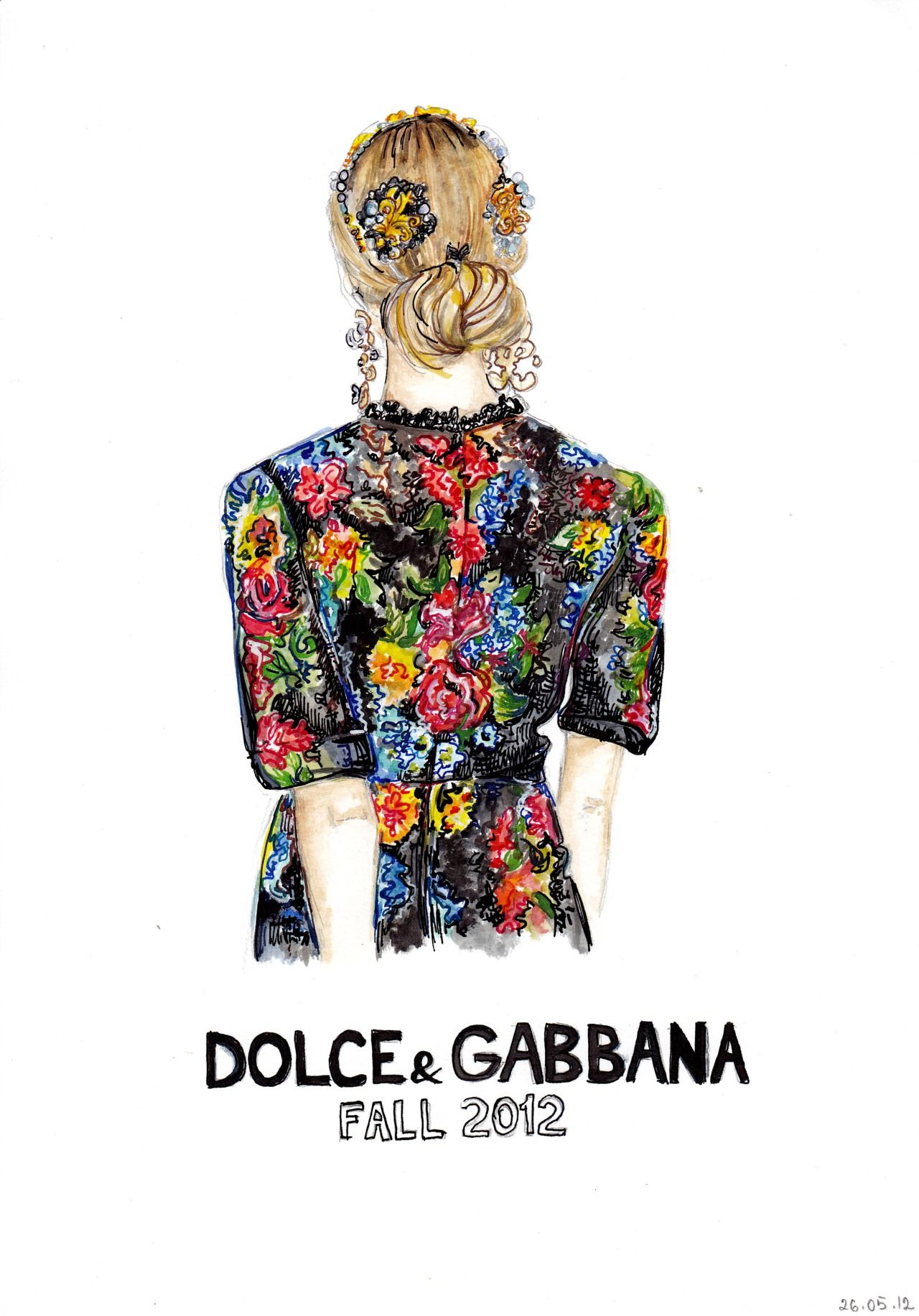 dolce amp gabbana fashion illustration by ira c fashion