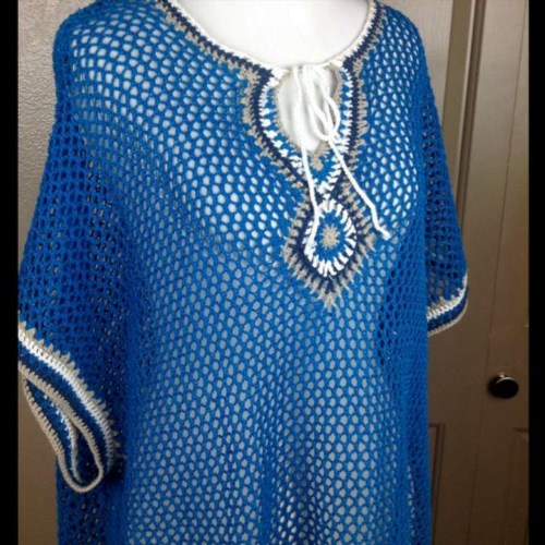 28.93$  Watch here - http://vizmo.justgood.pw/vig/item.php?t=d73ecc924328 - Tommy Bahama Swimsuit Cover Up Large Linen Cotton Crochet Dolman Short Sleeves