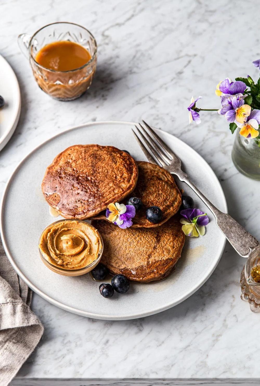 Vegan Protein Pancakes Chocolate Peanut Butter Natteats Recipe In 2020 Vegan Protein Pancakes Protein Pancakes Picky Eater Recipes