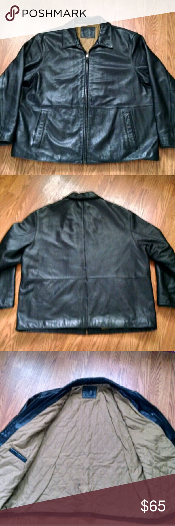 Mens Dockers Leather Coat Previously loved leather coat