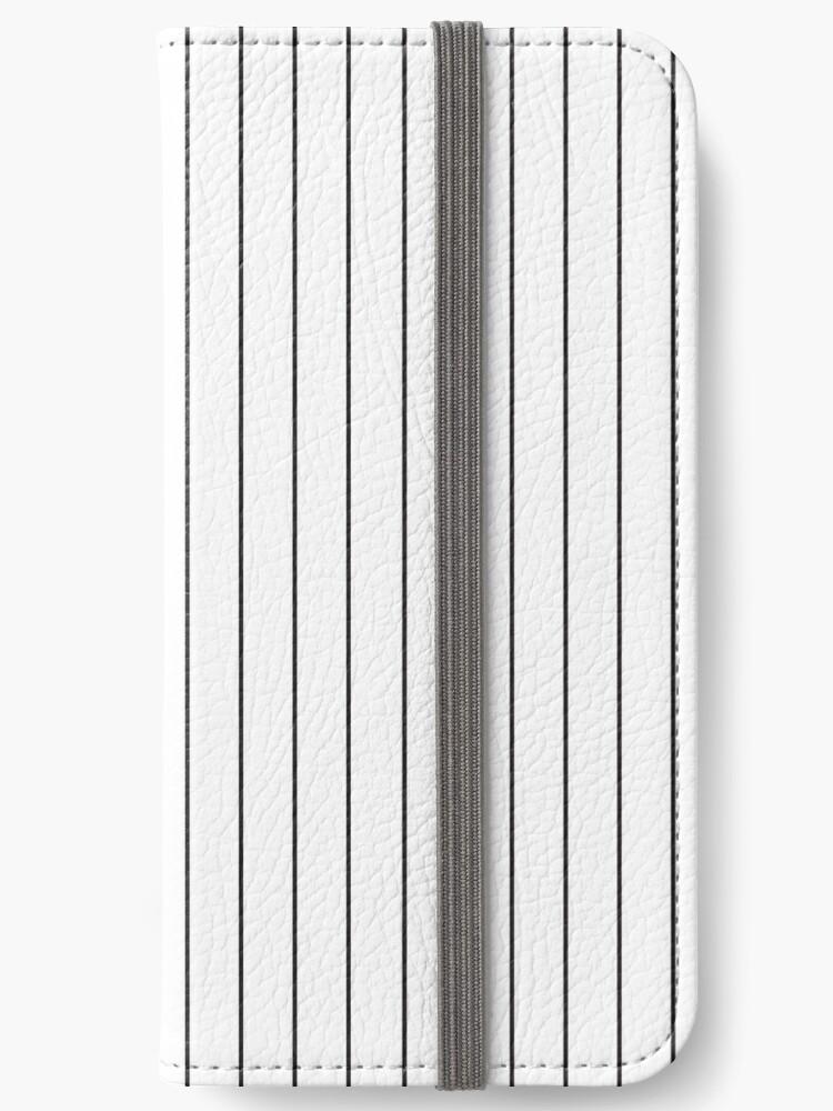 Vertical Black Stripes Pattern Iphone Wallet By Kallyfactory Stripes Pattern Pattern Iphone Stripes Design