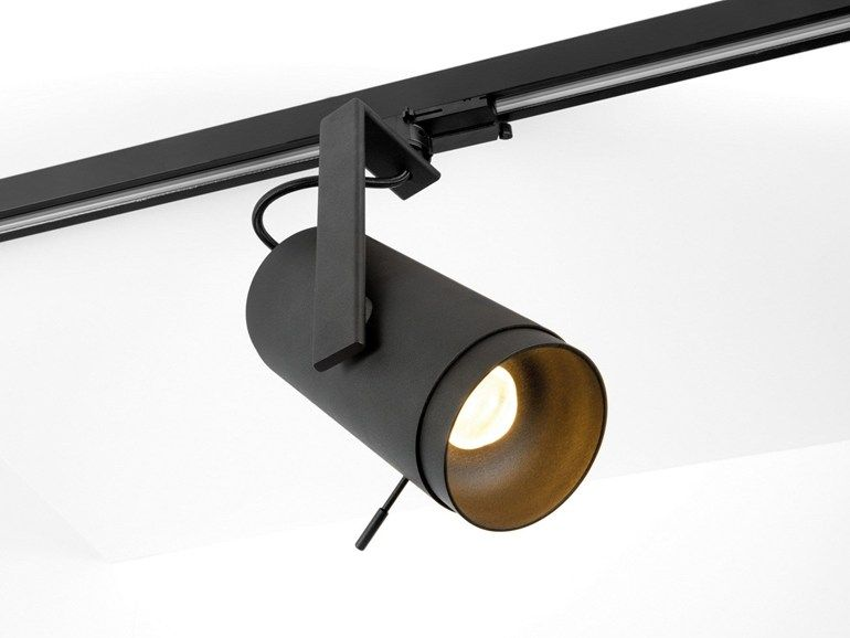 Faretto a led orientabile a binario spektra by modular lighting