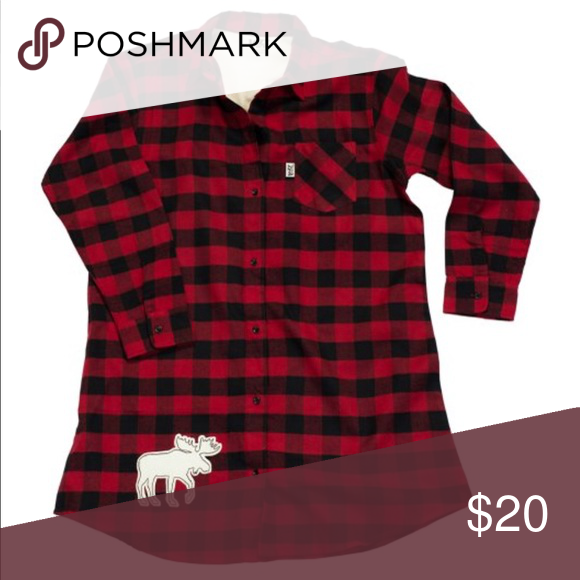 f038c670b8 Lazy One red plaid night shirt size s m Great for the holidays! Super cozy  button women s long night shirt. New with tags. Never worn. Size s m - fits  big.