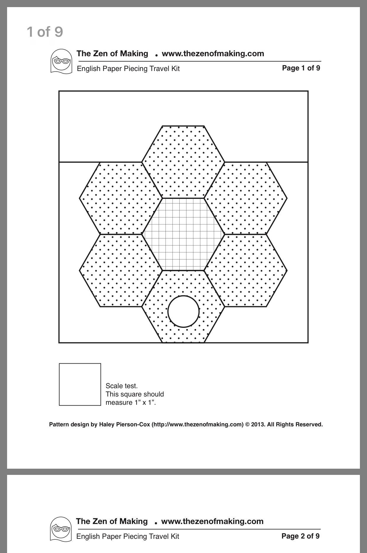 SUE DALEY DESIGNS Hexagon Template Patchwork with BUSYFINGERS EPP English Paper Piecing 5//8 inch