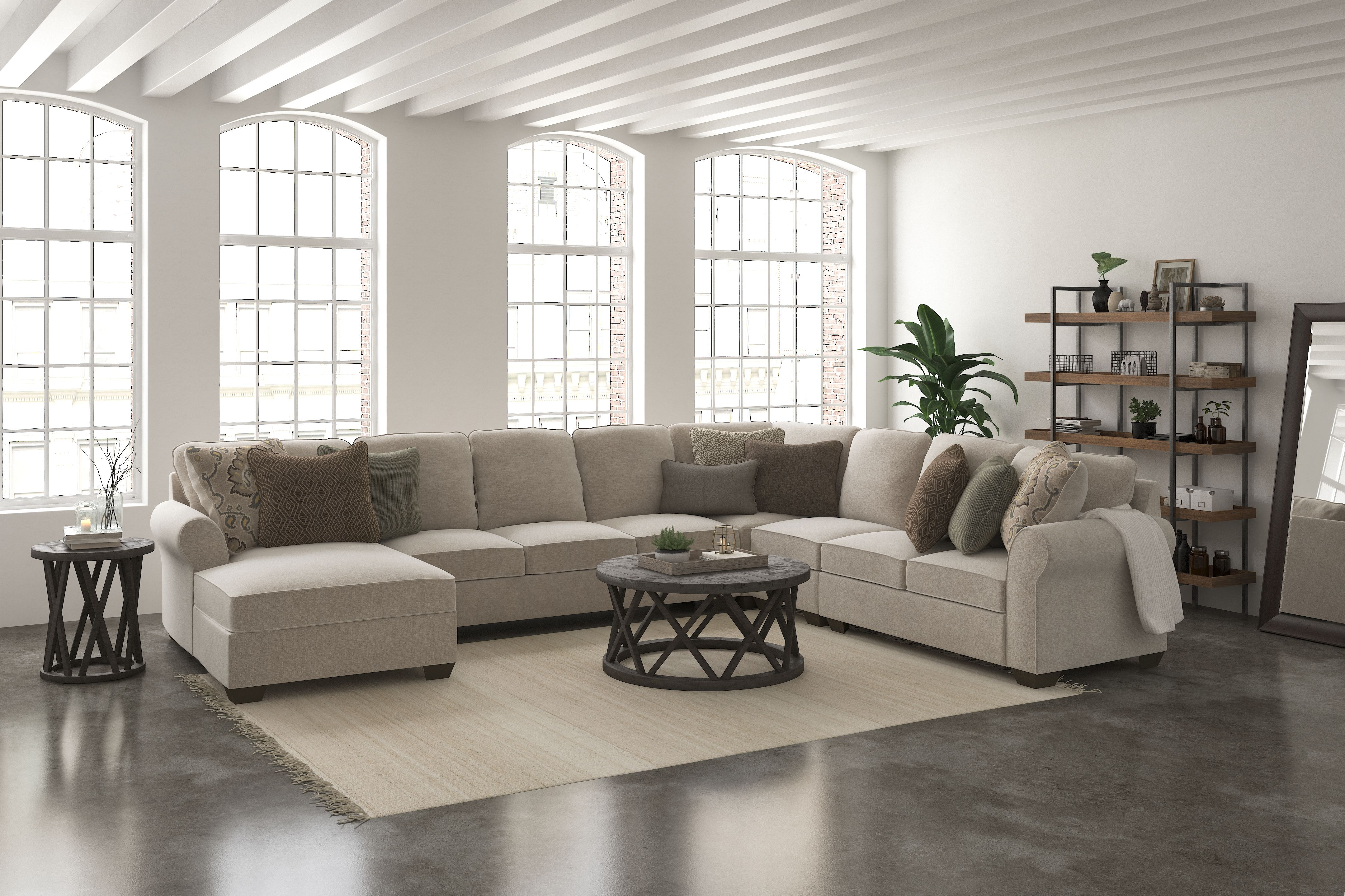 Best Wilcot 5 Piece Sectional With Chaise Linen Sectional 640 x 480
