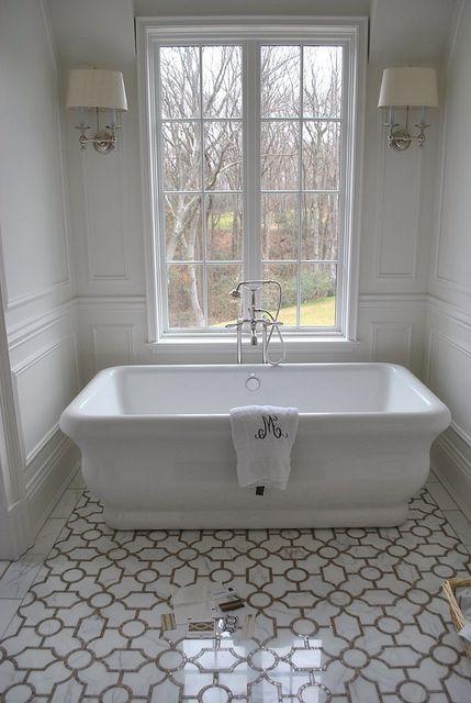 Mosaic Floor For Master Tub For Mireille S Room Vasca Da Bagno