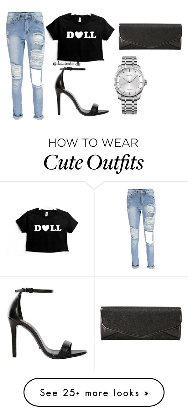 """Cute Outfit"" by diavianshanelle on Polyvore featuring Schutz, J. Furmani, Calvin Klein, women's clothing, women, female, woman, misses, juniors and cute"