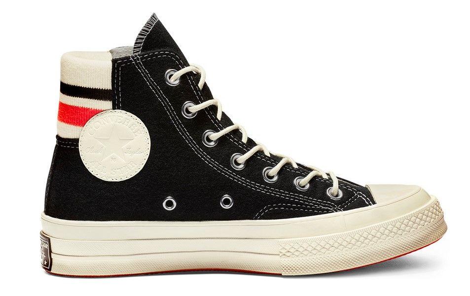 Converse Chuck 70 Retro Stripe High Top black/sedona red ...