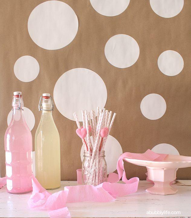 DIY Confetti Party Backdrop   A Bubbly Life: DIY Confetti Party Backdrop. Polka dot backdrop.