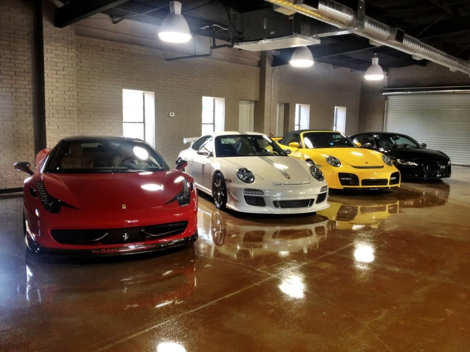 Ferrari porsche audi garage cool cars pinterest for Garage audi tours