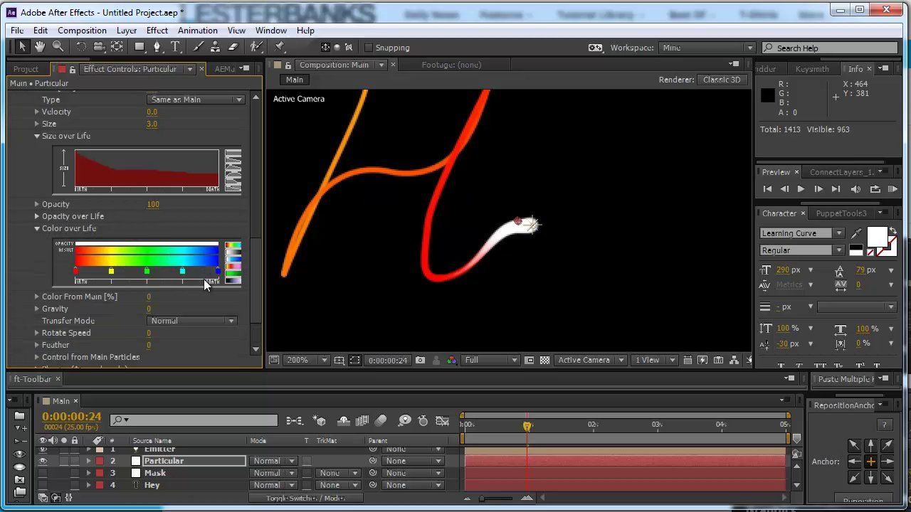 Creating Animated Handwritten Type With Trapcode Particular After