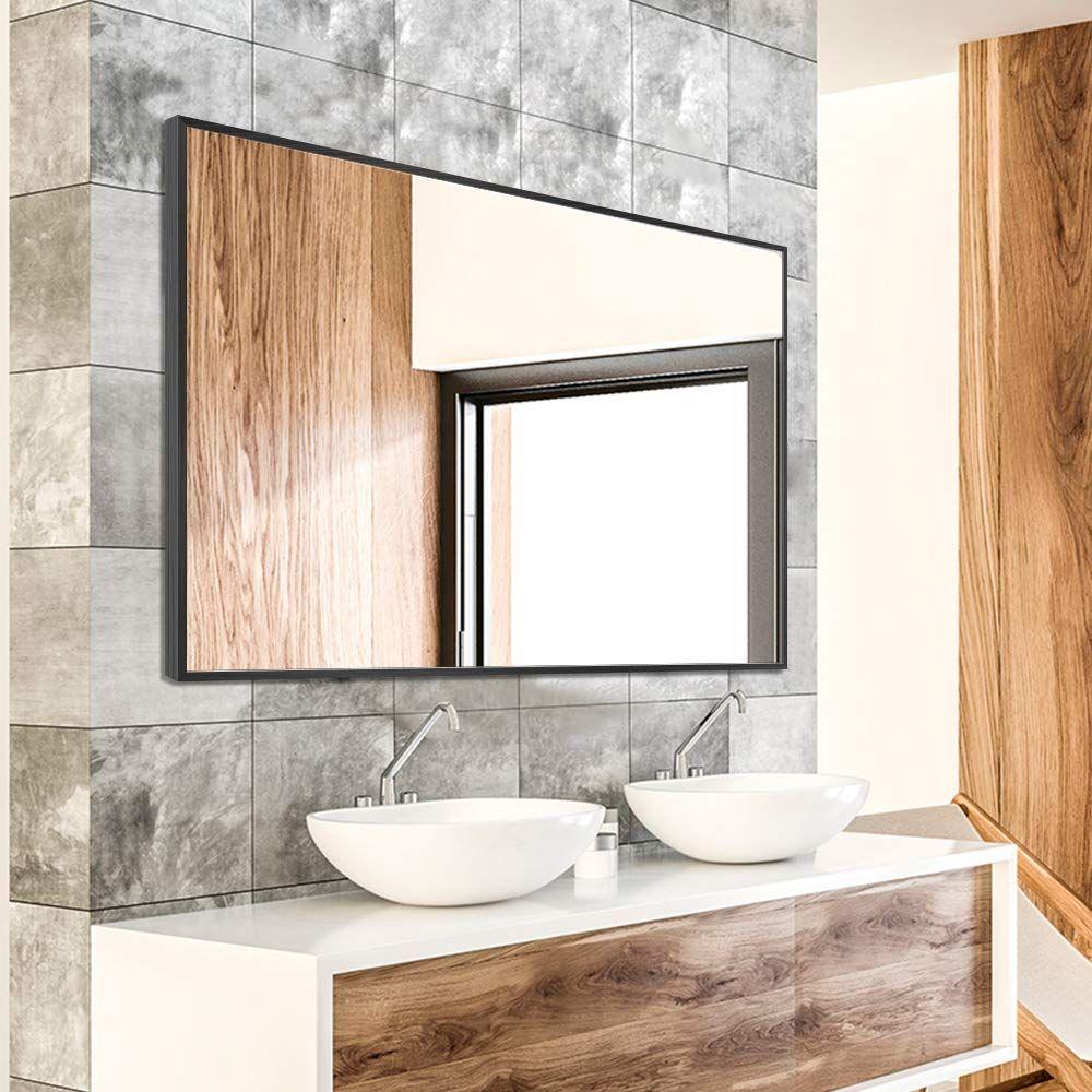 Neutype Wall Mounted Mirror Rectangular Hanging Mirror Metal Framed Wall Mirror Details Ca In 2020 Bathroom Mirror Frame Framed Mirror Wall Frameless Beveled Mirror